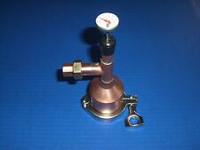 """Moonshine Beer Keg Still Kit  2"""" x 1/2 Copper, Tri Clamp, Gasket, thermometer!!!"""