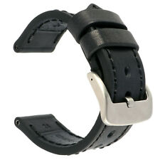 26mm NEW COW Leather Strap Black Watch Band for fits PANERAI Black x1