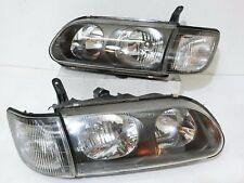 JDM Mitsubishi Delica L400 Right Face-Lifted Black Housing Headlight 1 Pairs OEM