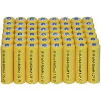 48 AA Rechargeable Batteries NiCd 2800mAh 1.2v Garden Solar Nicd Light Nimh Lamp