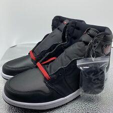 "Nike Air Jordan 1 Retro High OG ""black Satin"" Red Shoes 555088-060 Mens 10"