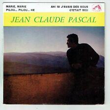 Jean-Claude PASCAL Vinyle 45T EP MARIE ... PILOU ... SI J'AVAIS DES SOUS VM 457