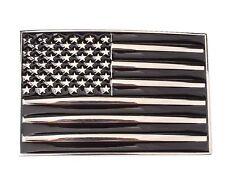 USA FLAG Chrome and Black belt buckle military army navy marines AF US Seller