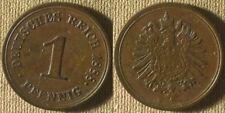 Germany Empire : 1888E 1 Pf   AU-UNC   Luster  #1   IR8470