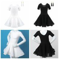 Girls Latin Dance Dress Tango Ballet Ballroom Kid Dancewear+Shorts Tassel Outfit