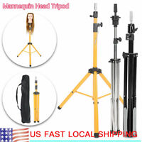 Hairdressing Training Mannequin Tripod Clamp Hair Wig Head Stand Tool US Stock