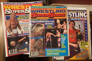 3 Vintage Pro Wrestling Magazine Lot Wrestling Superstars & All Stars WWF 1980's