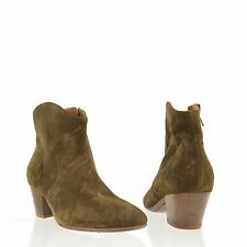 Isabel Marant Étoile The Dicker Women's Green Suede Ankle Booties Sz EU 36 $660