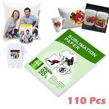 110 Sheets A4 Sublimation Heat Transfer Paper For Inkjet Printer Mug T Shirt