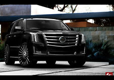 2015 BLACK CADILLAC ESCALADE NEW A2 CANVAS GICLEE ART PRINT POSTER FRAMED