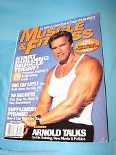 Muscle & Fitness January 2000 Arnold Schwarzenegger Bodybuilding Magazine