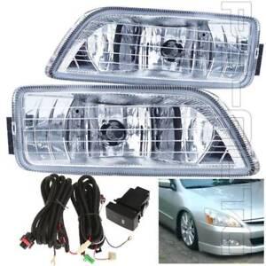For 2006-2007 Honda Accord Sedan 4DR Fog Light Assembly W/Switch Bulbs Wiring