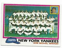 1981 Topps New York Yankees Team Set with Traded and Reggie Jackson and Winfield