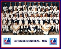 Rare MLB 1982 Montreal Expos Color Team Picture 8 X 10 Photo Picture Free Ship
