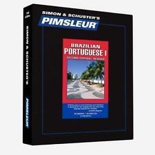 New - Brazilian Portuguese 1 by Pimsleur Staff 16 CDs 2nd Ed. Revised Unopened