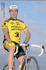 CYCLISME carte cycliste MIGUEL ANGEL IGLESIAS GUERRERO équipe PUERTAS MAVISA