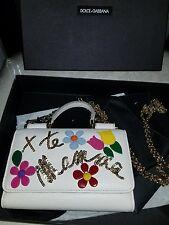 Nwt Authentic Dolce&Gabbana Sicily Embellished Phone Bag Purse