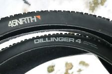 "45NRTH Dillinger 4 120TPI Fat Bike Tires 26 x 4.0"" Stud & Tubeless Ready PAIR"