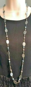 """Premier Designs Jewelry Willow 40"""" + 4"""" Necklace Silver, Copper, & Gold NWOT"""