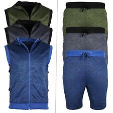 Mens Summer Designer Tracksuit | Zip Top Hoodie & Shorts Bottom, Gym Jogging
