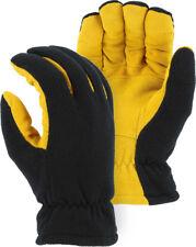 WARM Winter Heat-Lock Heatlok Insulated Gloves-Black-Tan-WOMEN Large-Size 8