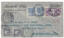 1940 Bahia Brazil Commercial Airmail to Los Angeles California, Pairs 300R, 400R