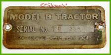 John Deere Unstyled B Serial Number Tag Sn 23872 Mo Tractor Free Archive