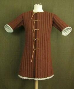 Medieval Celtic Padded Armour Gambeson Brown Sleeves Best Halloween Gift