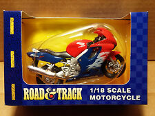 MAISTO Road & Track - 1/18 Scale Motorcycle Red/white/blue 1999 Honda CBR600F