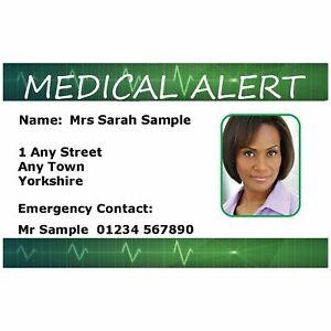 Emergency Medical Alert Identity Card. Asthma, Diabetes Warfarin. Free P&P