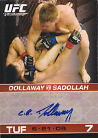 2009 Topps UFC Round 1 Autographs #ACBD CB Dollaway G Auto