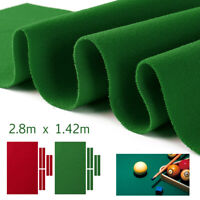 US 8/9/FT Worsted Billiard Pool Table Cloth Felt Mat Cover Fast Pre-Cut Rails