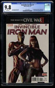 Invincible Iron Man #7 CGC NM/M 9.8 1st Tomoe + Cameo Riri Williams!