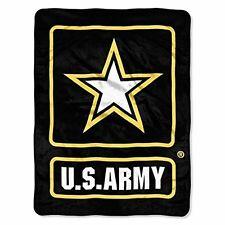 US Army 46x60 Large Lightweight Super Soft Micro Raschel Throw Blanket Military