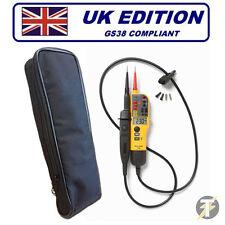 Fluke t130 (t120 Aggiornato) Voltaggio & Continuità Tester + LDMC 1 CASE!!!