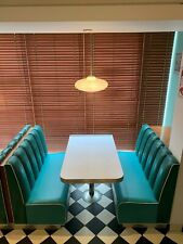 More details for retro 50's diner booth seating with table