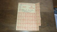 1948 WWII ERA AUSTRALIAN RATION CARD, CLOTHING RATION CARD RED
