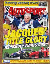 Autosport 30/10/97* EUROPEAN GP - SCHUMACHER FACES BAN - JEREZ F3000 -THRUST SSC