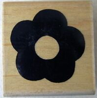 JRL DESIGN Rubber Stamp SIMPLE SOLID FLOWER SHAPE 1.75 inches