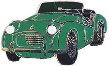 Triumph TR2 car cut out lapel pin - Green