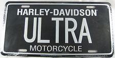 HARLEY DAVIDSON MOTORCYCLES ULTRA METAL LICENSE PLATE NEW L846