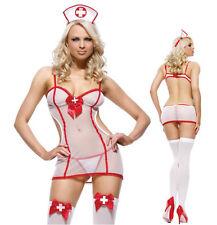 Nurse-dress Lingerie See-through Nightdress Sexy Lingerie Underwear G-string