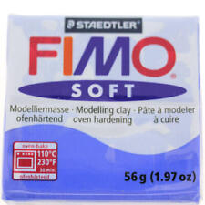 FIMO Soft Polymer Modelling Clay no 33 - Brilliant Blue - Two 56g blocks