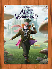 "TIN SIGN ""Alice in Wonderland"" Disney Depp Mad Hatter Wall Poster"