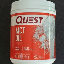 Quest  MCT Oil Powder 16 oz KETOGENIC DIET ENERGY, WEIGHT MANAGEMENT