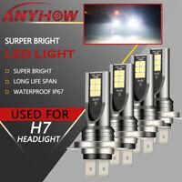 Mini H7 + H7 Combo LED Headlight Kit Bulbs High Low Beam 240W 52000LM 6000K 4X