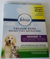 Febreeze 3 Vacuum Bags Hoover Y Upright Allergen Filtration New