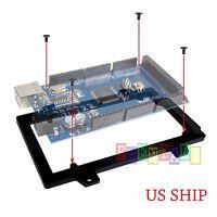 Black Acrylic Mount Enclosure Transparent Case for Arduino MEGA2560 UNO US SHIP