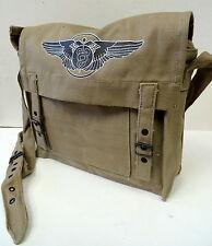 ARMY AIR FORCES FLIGHT SURGEON KHAKI FIELD BAG W/INSIGNIA
