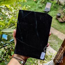 Black Jade Slab - Natural Dark Guatemalan Jadeite Rough with Green Veins BGS001d